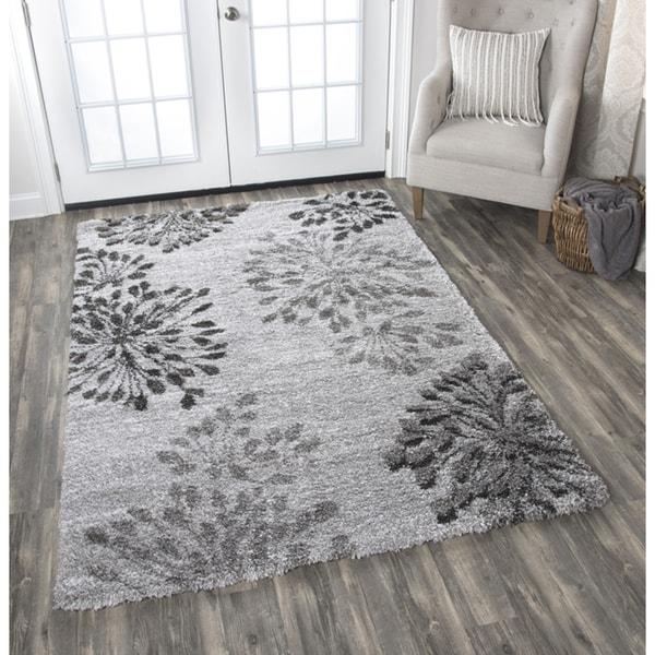 Adana Grey Floral Area Rug (7'10 x 10'6)