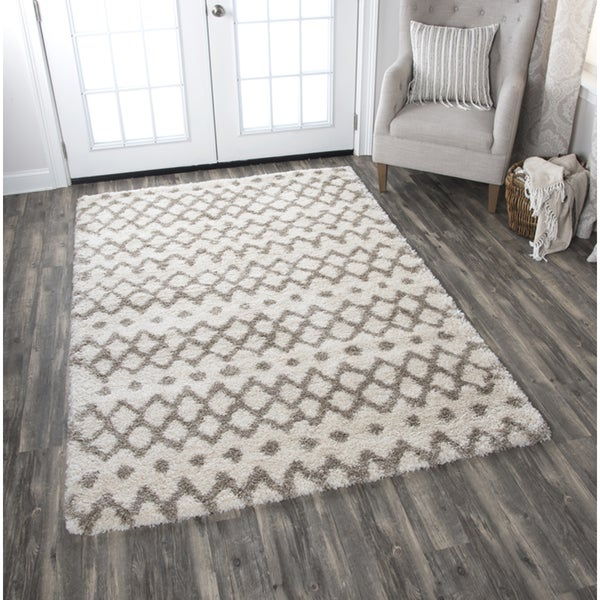 "Adana Cream Geometric Area Rug - 7'10"" x 10'6"""