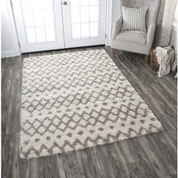 Adana Cream Geometric Area Rug - 7'10 x 10'6