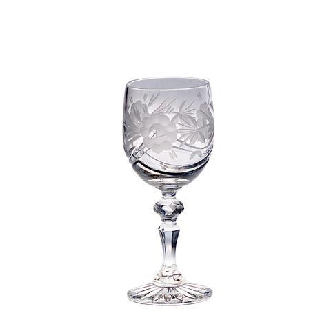 Majestic Gifts Crystal 7-ounce Hand-cut Wine Goblet (Pack of 4)