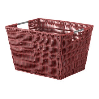 Whitmor Red Small Rattique Storage Tote