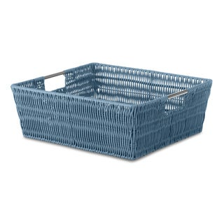 Whitmor Berry Blue Rattique Shelf Storage Tote