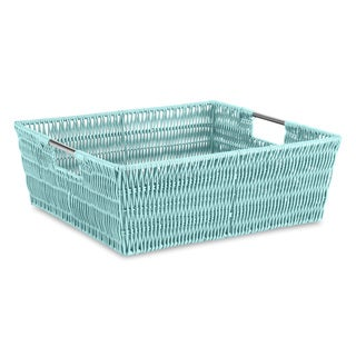 Whitmor Rattique Sea Rattan Shelf Tote Basket