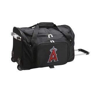 Denco Los Angeles Angels 22-inch Carry-on Rolling Duffel Bag