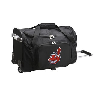 Denco Sports Cleveland Indians Black 22-inch Carry-on Rolling Duffel Bag
