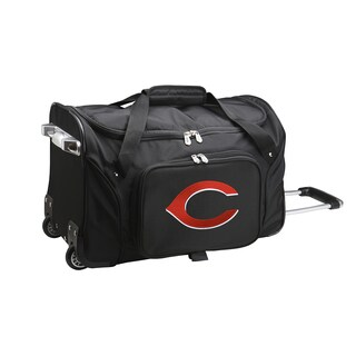 Denco Cincinnati Reds 22-inch Carry-on Rolling Duffel Bag