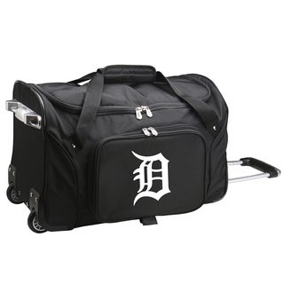 Denco Sports Detroit Tigers Carry-on Rolling 22-inch Duffel Bag
