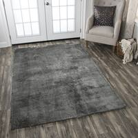 Hand-Tufted Calgary Dark Grey Polyester Solid Area Rug - 5' x 7'