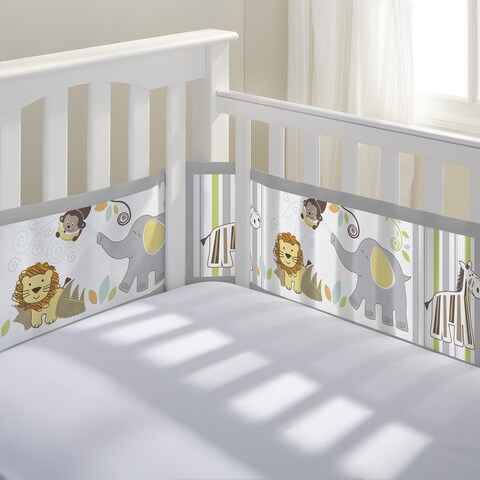 BreathableBaby Safari Fun II Breathable Mesh Printed Crib Liner