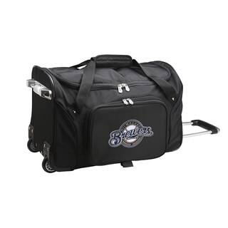 Denco Milwaukee Brewers Carry-on Rolling 22-inch Duffel Bag