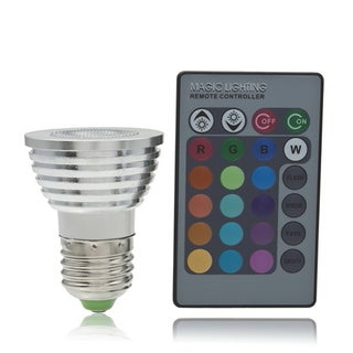 5W E27 Multi Color Change RGB LED Light Bulb Lamp with Remote Control