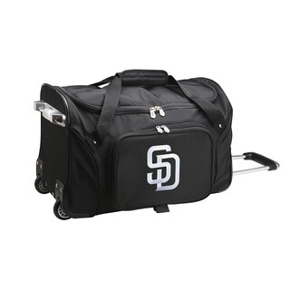 Denco Sports San Diego Padres Black 22-inch Carry-on Rolling Duffel Bag