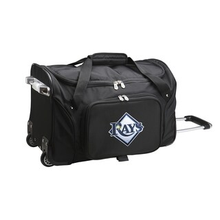 Denco Tampa Bay Rays 22-inch Carry On Rolling Duffel Bag