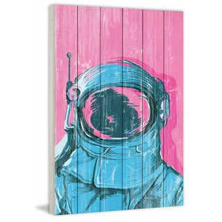 Marmont Hill - Handmade The Astronaut Painting Print on White Wood