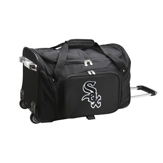 Denco Chicago White Sox 22-inch Carry On Rolling Duffel Bag