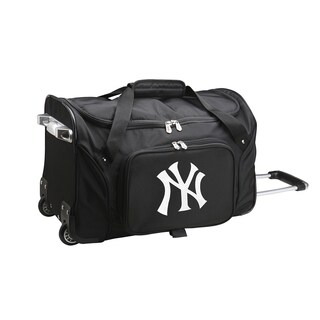 Denco New York Yankees 22-inch Carry-on Rolling Duffel Bag