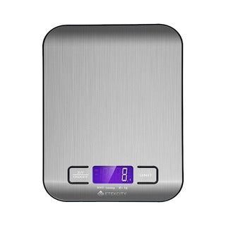 Multifunction Digital Kitchen and Food Scale with Stainless Steel Platform - Stainless Steel