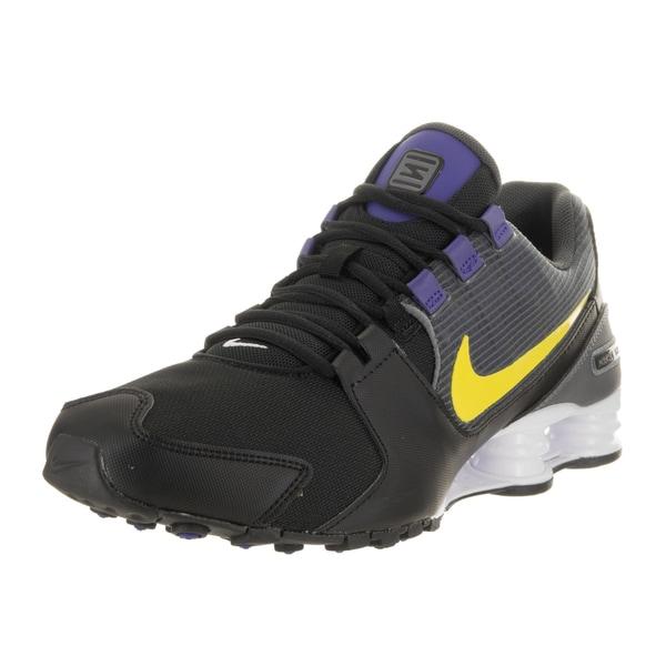 efc6aa610504c5 Shop Nike Men s Shox Avenue Black Synthetic Leather Running Shoe ...