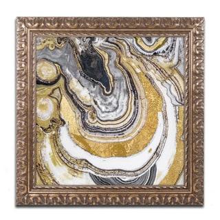 Color Bakery 'Stone Prose' Ornate Framed Art