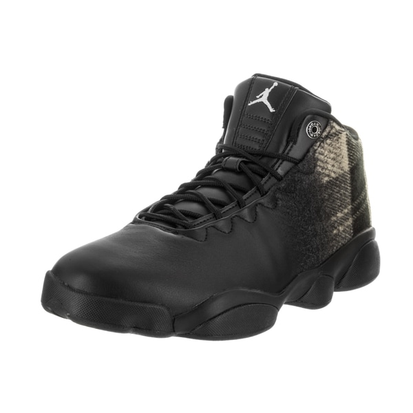 6f2fc57722b9d1 Nike Men  x27 s Jordan Horizon Low Premium Black Leather Basketball Shoe
