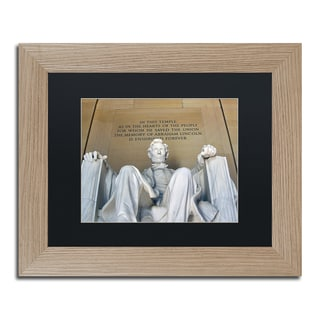 CATeyes 'Lincoln Memorial' Matted Framed Art