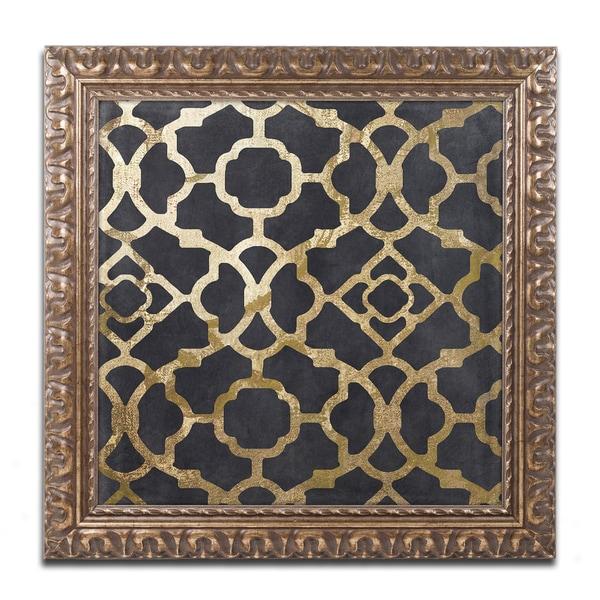 Color Bakery 'Moroccan Gold IV' Ornate Framed Art