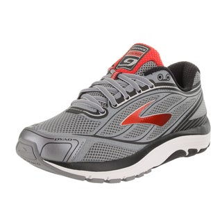 Brooks Men's Dyad 9 Grey Synthetic-leather Running Shoes