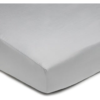 American Baby Company Grey 100-percent Cotton Percale Crib Sheet