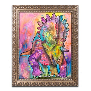 Dean Russo 'Triceratops' Ornate Framed Art