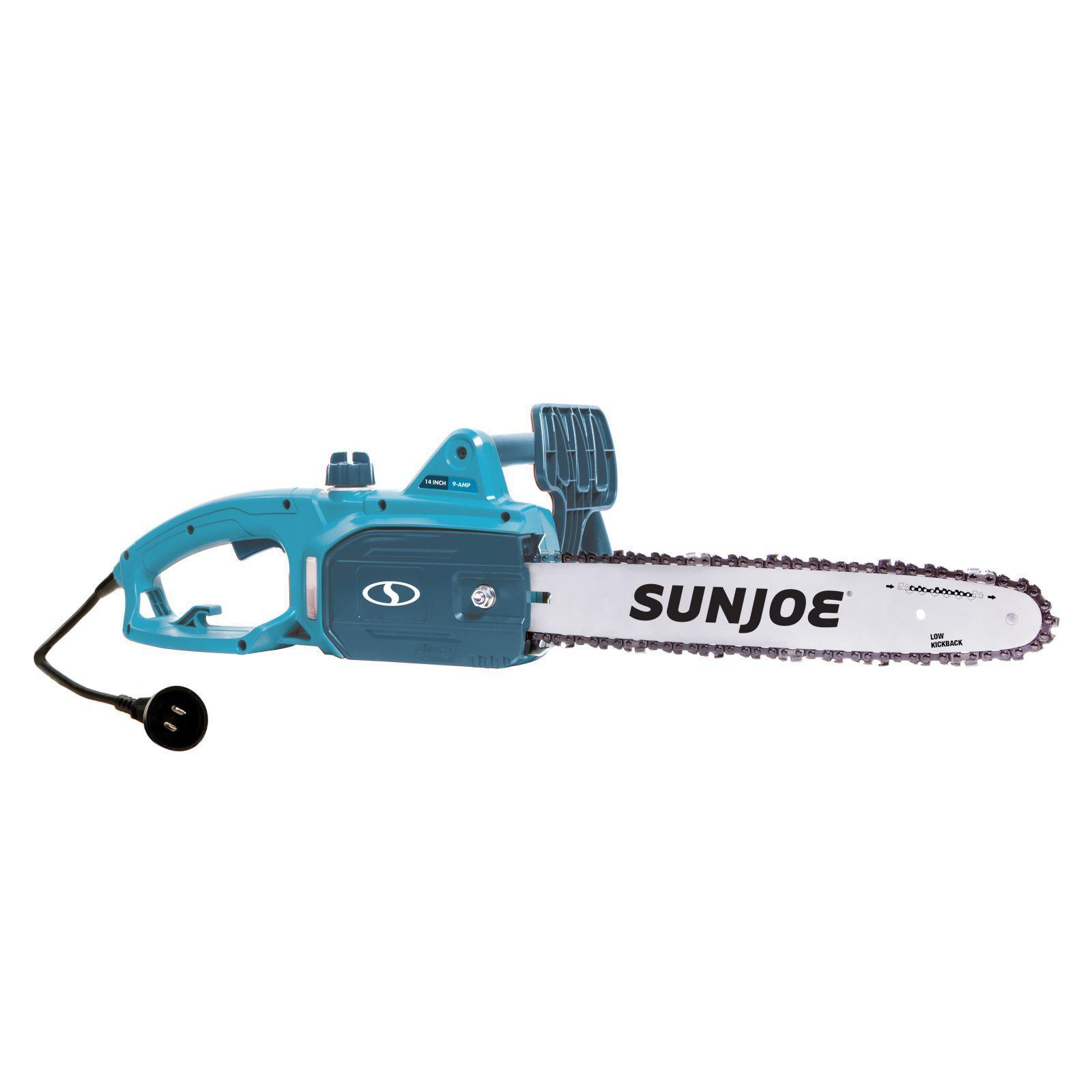 Sun Joe 14-Inch 9-Amp Electric Chain Saw (Blue) (Blue) (P...