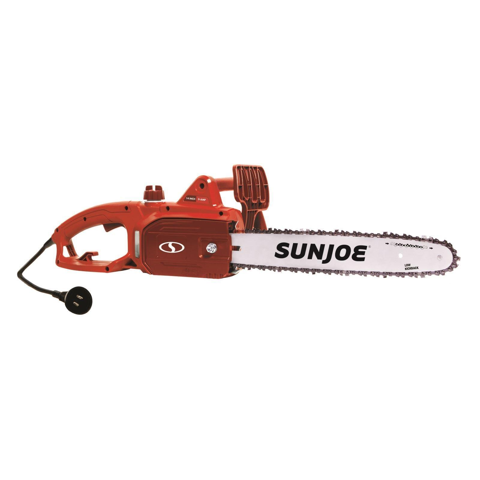 Sun Joe 14-Inch 9-Amp Electric Chain Saw (Red) (Red) (Pla...