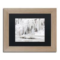 Jason Shaffer 'Mill Hollow Ice' Matted Framed Art