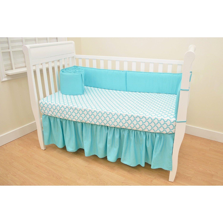 Aqua Sea Waves American Baby Company 100/% Cotton Percale Fitted Portable//Mini Crib Sheet