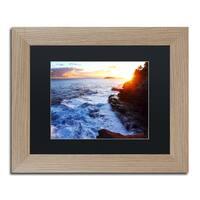 Jason Shaffer 'Hawaii 4' Matted Framed Art - Blue