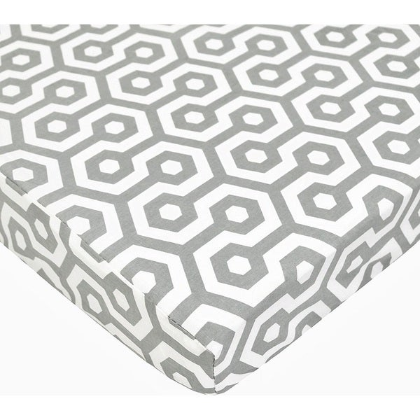 Shop American Baby Company Portamini Grey Honeycomb Cotton