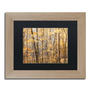 Jason Shaffer 'Autumn Treeline 2' Matted Framed Art