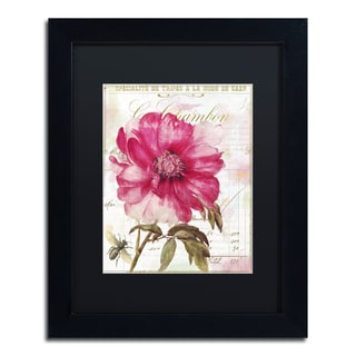 Color Bakery 'Pink Peony' Matted Framed Art