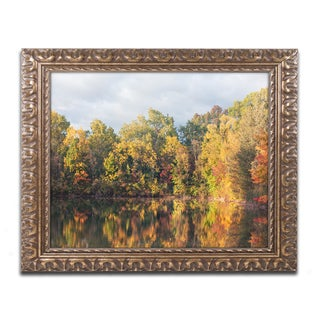 Jason Shaffer 'Autumn Reflections' Ornate Framed Art
