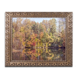 Jason Shaffer 'Autumn Quarry' Ornate Framed Art