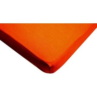 American Baby Company Orange Supreme Jersey Knit Crib Sheet