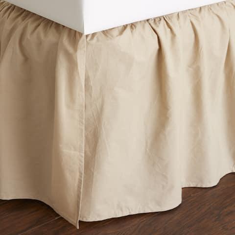 Brighton Khaki Cotton 24-inch Bed Skirt