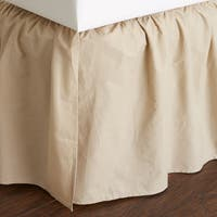 Brighton Khaki Cotton 24-inch Bed Skirt
