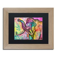 Dean Russo 'Woolly Mammoth' Matted Framed Art - Brown