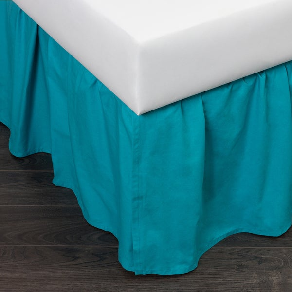 Brighton Teal Cotton Bed Skirt