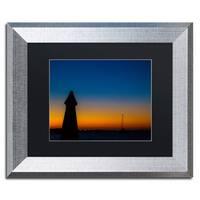 Yale Gurney 'Turks Sunset II' Matted Framed Art - Black