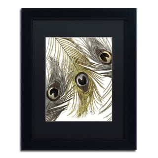Color Bakery 'Feather Fashion I' Matted Framed Art