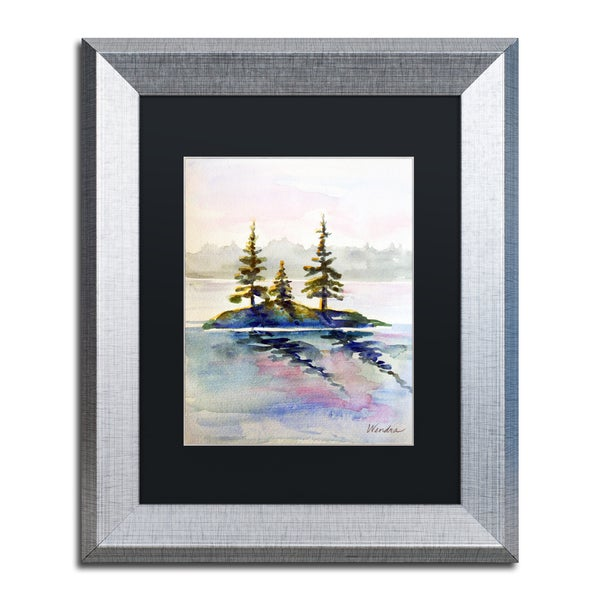 Wendra 'Little Island' Matted Framed Art