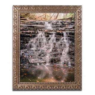 Jason Shaffer 'Hidden Falls' Ornate Framed Art