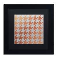 Color Bakery 'Xmas Houndstooth 4' Matted Framed Art