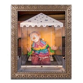 Jason Shaffer 'Clown' Ornate Framed Art